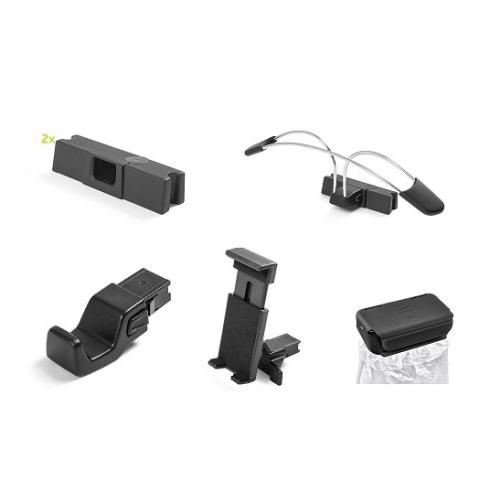 PAKETT COMFORT (prügikoti hoidik, multimeedia-, koti-, riiete- hoidik peatoele koos 2 adapteriga)