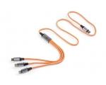 SKODA laadimiskaabel 3in1 USB-C, oranž
